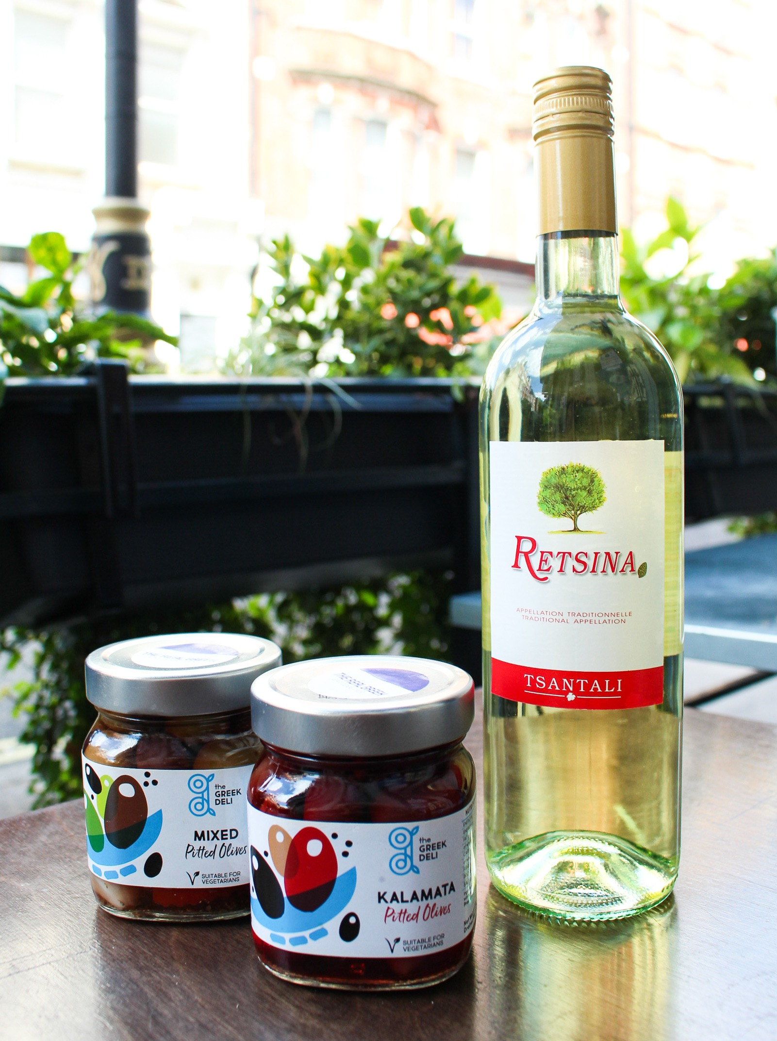 The Real Greek - Wine and Cheese - Retsina and Olives