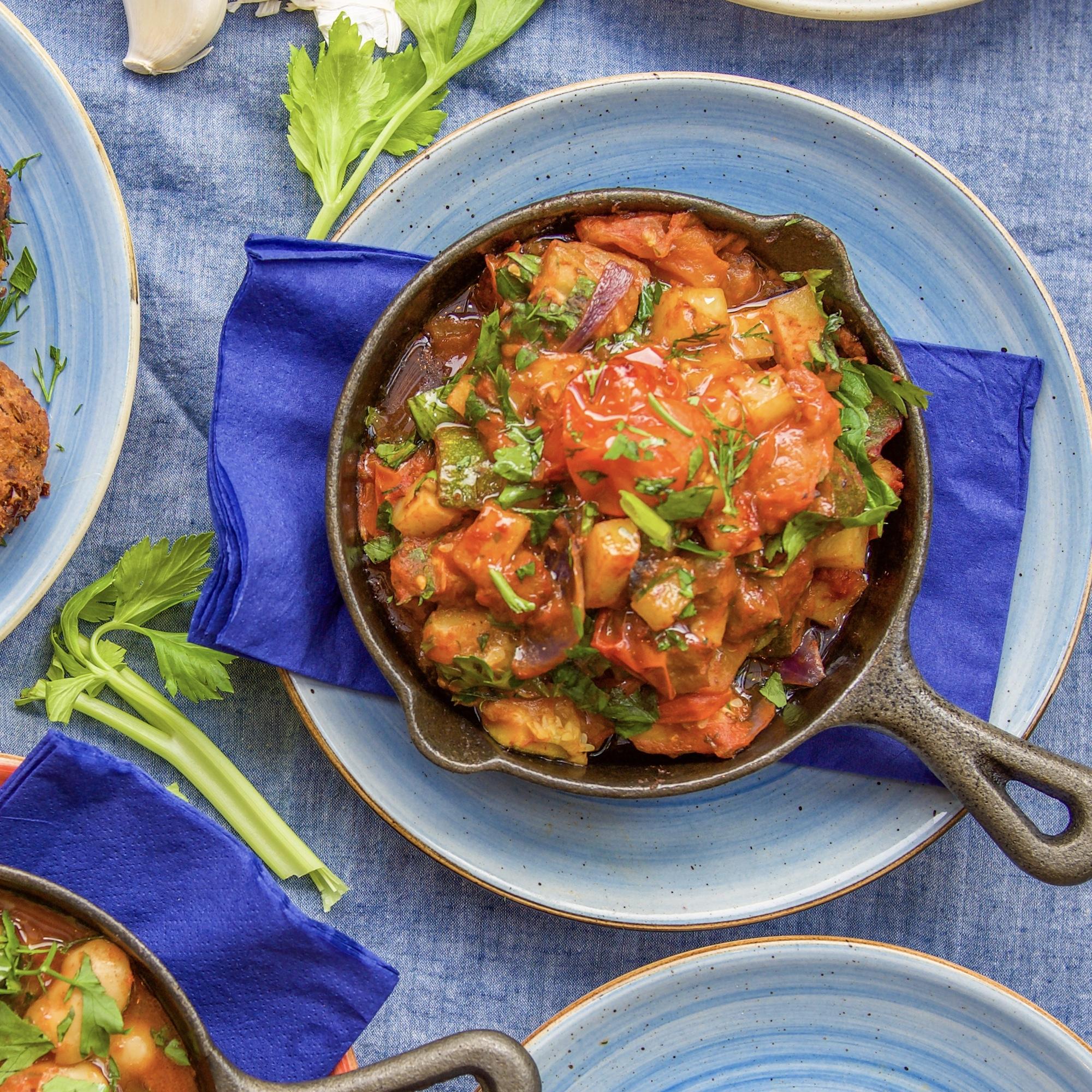 vegan food - greek vegan - vegetable briam