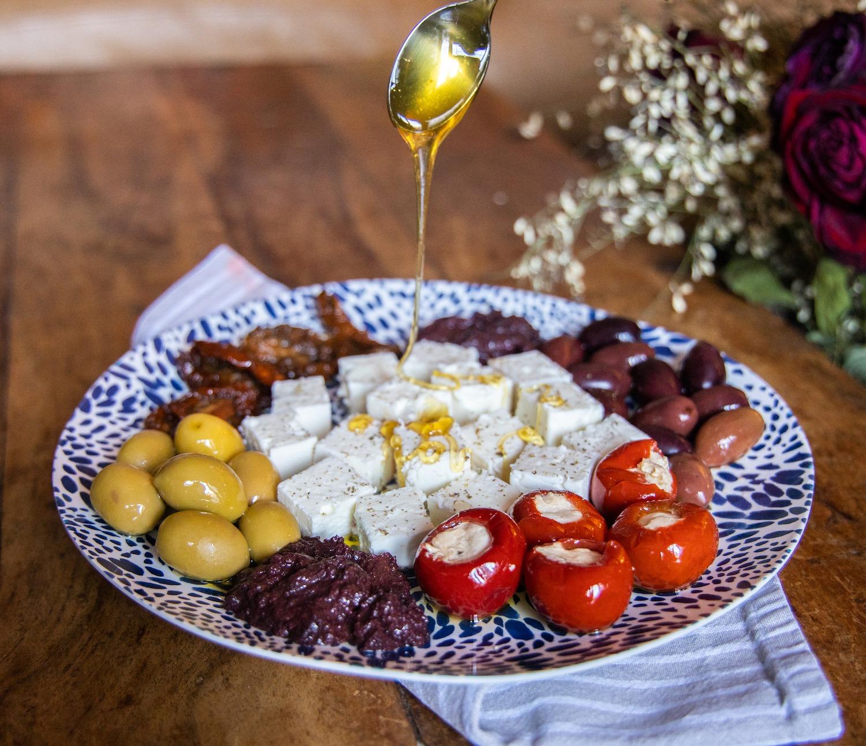 The Real Greek Marketplace Greek Feta, Olives