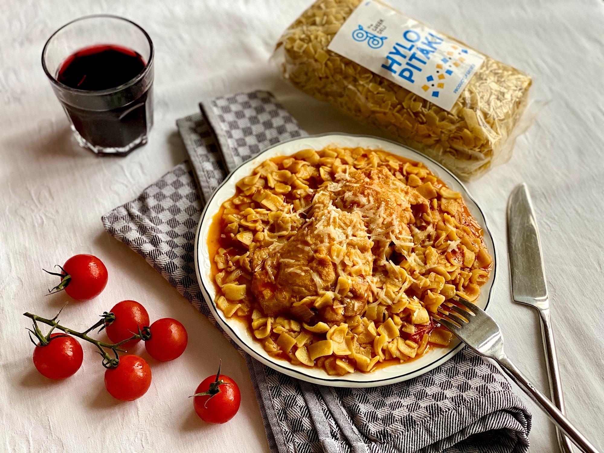 The Real Greek - Hilopitaki with Chicken Recipe
