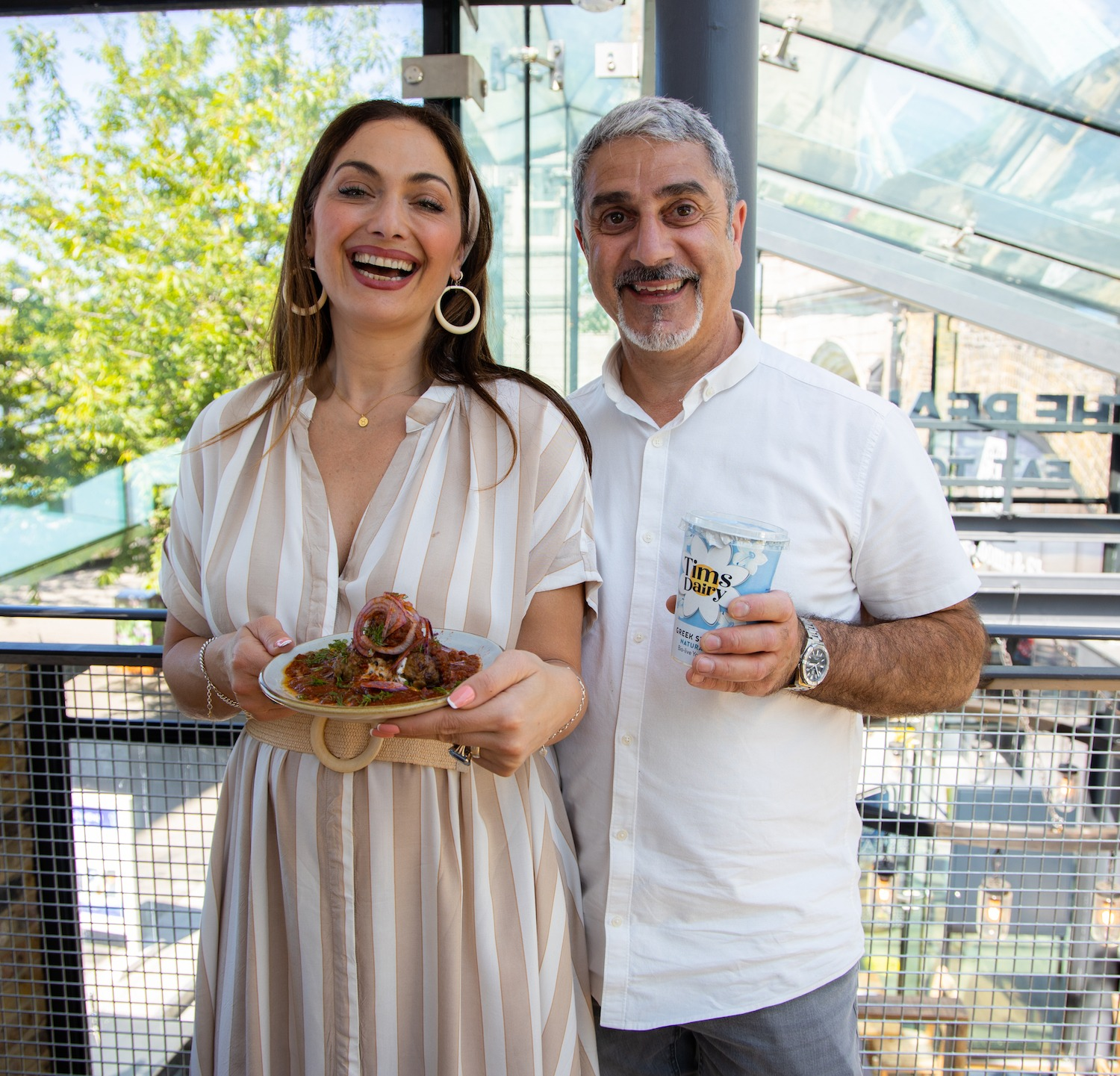 Tonia Buxton Bides The Real Greek Tims Dairy Collaboration Tower Bridge The Real Greek